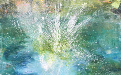 Splash with Rhododendrons