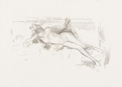 Nude Model, Reclining